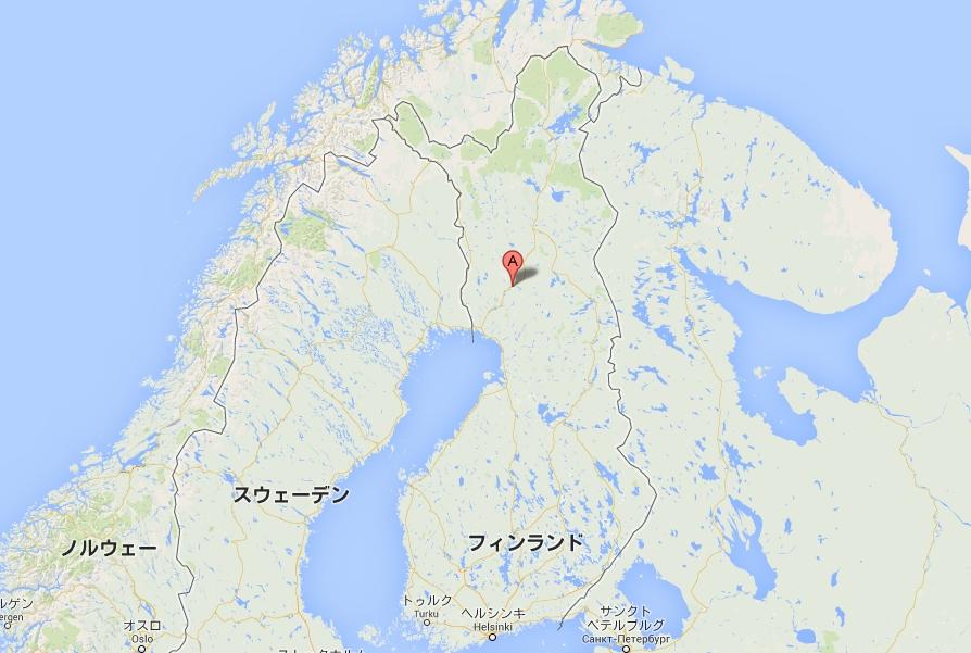 ロヴァニエミ。ヘルシンキから国内線で1時間20分。